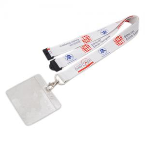 Sublimated lanyard with PVC card holder
